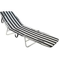 Cadeira Espreguiã§Adeira Dobrã¡Vel Mormaii Branco/Preto - Branco - Dafiti