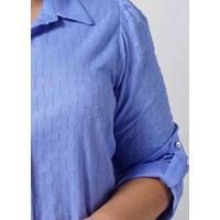 Camisa Ampla Almaria Plus Size New Umbi Texturizad