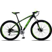 Bicicleta Aro 29 Ksw Xlt 24V Câmbios Shimano Tx-800 Freio A Disco Hidráulico Suspensão Com Trava - Unissex