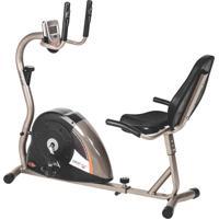 Bicicleta Ergométrica Horizontal Drop 5000H, Painel Multifunções, Sensor Cardíaco, Encosto Na Região Lombar - Mormaii