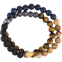Nialaya Jewelry Pulseira Com Pedrarias - Cinza