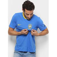 Camiseta Seleção Brasil Nike Crest Masculina - Masculino