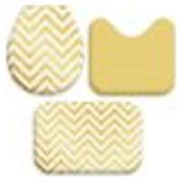 Jogo Tapetes Para Banheiro Yellow Chevron Único 40X60