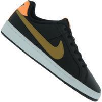 Tênis Nike Court Royale Gs - Infantil - Preto/Laranja