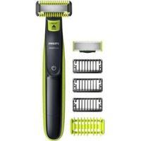 Barbeador Elétrico Philips Oneblade Rosto E Corpo - Seco E Molhado - Bivolt - Unissex-Verde+Chumbo