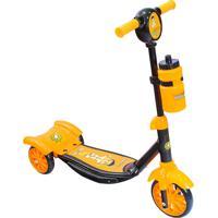 Patinete Unik Toys 3 Rodas Heroizinho Super Rocket Amarelo