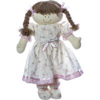 Boneca De Berço Quarto Bebê Infantil Menina Potinho De Mel Rosa