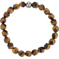 Nialaya Jewelry Pulseira Com Pedras Facetadas - Marrom