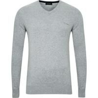 Suéter Tricot Gola V Cinza Plus