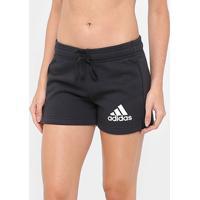 Short Adidas Ess Solid Feminino - Feminino-Preto