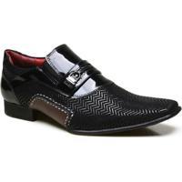 052790e6c0 Sapato Social Em Couro Com Textura Calvest - Masculino-Preto