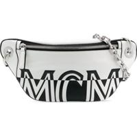 Mcm Pochete Com Estampa De Logo - Branco