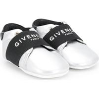 Givenchy Kids Logo Strap Sneakers - Cinza