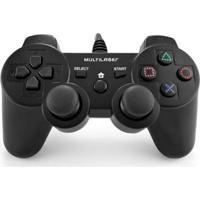 Controle Gamer Com Fio - 3 Em 1 - Ps3 - Ps2 E Pc - Preto - Multikids