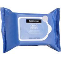 Lenço Umedecido De Limpeza Facial Neutrogena Deep Clean Demaquilante 25 Unidades