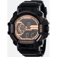 Relógio Masculino Moramii Mo1105B 8J Digital Multifução