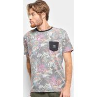 Camiseta O'Neill Especial Fronzareli Bolso Masculina - Masculino-Preto