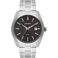 Relógio Analógico Orient Mbss1322 Masculino - Masculino-Prata