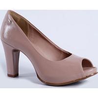 Peep Toe Feminino Textura Salto Alto Dakota B9851
