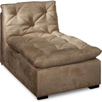 Sofá Ronne Chaise Suede Bege