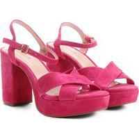 Sandália Couro Shoestock Meia Pata Feminina - Feminino-Pink