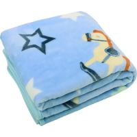 Cobertor Bebê De Microfibra Estampa Cavalinho
