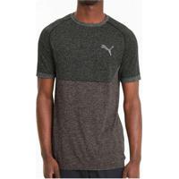 Camiseta Puma Evoknit Basic Tee Masculina Preto
