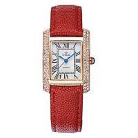 Relógio Feminino Wwoor 8806 - Vermelho E Dourado