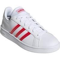 Tênis Adidas Grand Court Base Feminino - Feminino-Branco+Vermelho