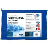 Travesseiro Fibrasca Supernasa Frosty Gel Azul