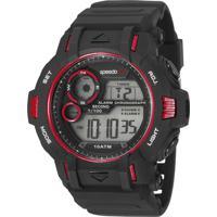 Kit De Relógio Digital Speedo Masculino + Carregador Portátil - 11010G0Evnp1Ke Preto