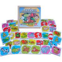 Jogo Ciabrink Da Memória Animais Madeira Multicolorido