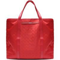 Shopping Bag Nylon Triangle Red   Schutz