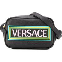Young Versace Bolsa Tiracolo Com Estampa De Logo - Preto