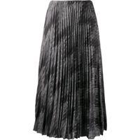 M Missoni Zigzag Metallic Pleated Skirt - Cinza