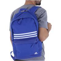 a463e3e34 Mochila Adidas Classic 3S - Azul/Branco