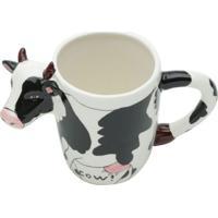 Caneca Vaca Branca 300 Ml