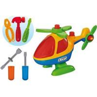 Helicóptero De Brinquedo Mãos À Obra - Monta E Desmonta Com Acessórios - Masculino-Colorido