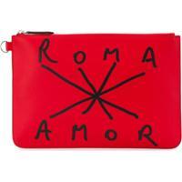Fendi Roma Amor Pouch - Vermelho