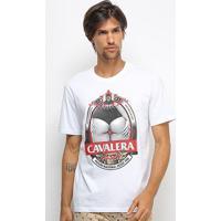 Camiseta Cavalera T Shirt Pilsen Masculina - Masculino-Branco