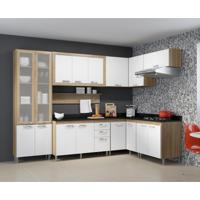 Cozinha Completa Edéia Ii 16 Pt 3 Gv Argila E Preto