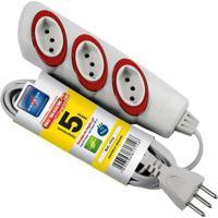 Extensão Elétrica No Schock 5M 3 Tomadas 2P T 10A 250V Dn1714 Daneva