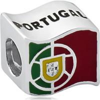 Pingente De Prata 925 Charms De Bandeira De Portugal