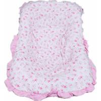 Capa Beb㪠Conforto Menina Floral Rosa - Rosa - Menina - Dafiti