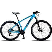 Bicicleta Xlt Aro 29 Freio A Disco Suspensão 21 Marchas Quadro 15 Alumínio Azul Preto - Ksw