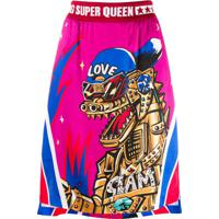 Dolce & Gabbana Saia Com Estampa 'Super Queen' - Rosa