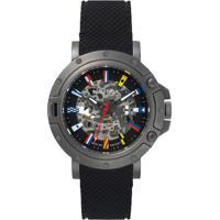 Relógio Nautica Masculino Borracha Preta - Napprh011