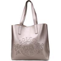 be43da46e ... Bolsa Colcci Shopper Brasão Feminina - Feminino-Prata