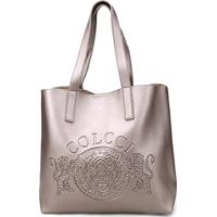 d84bf6a29 ... Bolsa Colcci Shopper Brasão Feminina - Feminino-Prata