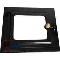 Porta De Ferro Pequena Com Vidro Reto Para Forno